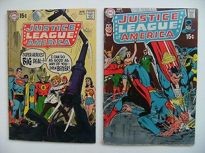 Two Justice League Of America DC Comics Vol.1 no's 73 & 74 - two part story