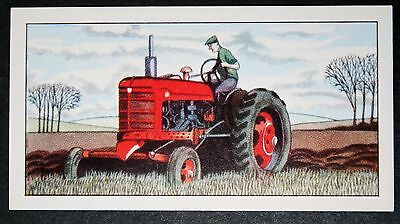 Vintage Farm Tractor        Illustrated Colour Card #  VGC
