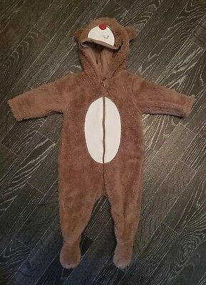 3aa9f2fc2 BABY BOYS GIRLS MOTHERCARE All-In-One Pramsuit Snowsuit Bear Coat 3 ...