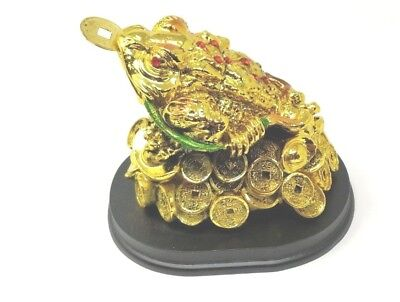 Fortune Coin Gold Money Toad/ Frog Feng Shui Chinese Lucky Charm of Prosperity B