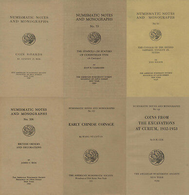 Numismatic Notes and Monographs, 1920-1970 (160 volumes) on DVD