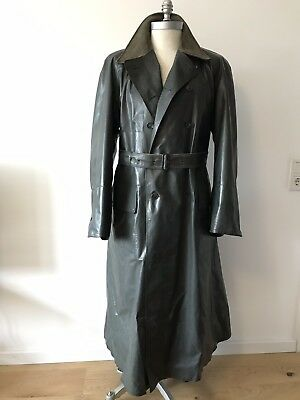 Klepper Kleppermantel Gummimantel Raincoat Kraftrad gefüttert Vintage 50er RAR!