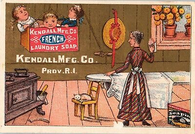 "Trade Card, Kendall Crate Series, ""Ironing Day"" French Laundry Soap"