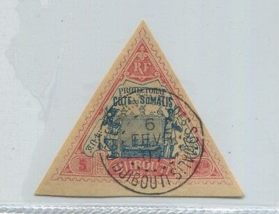 DJIBOUTI 1894 old good TRIANGLE STAMP USED FRANCE COLONY 170 Euros # 66751