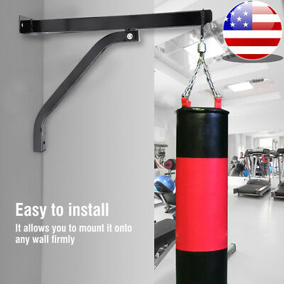 ARD CHAMPS™ Punch Bag Ceiling Hook Black Heavy Duty Metal Screws /& Plugs Thick