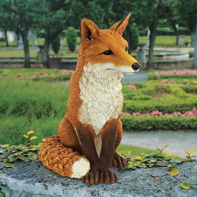 "Simon The Fox Design Toscano Exclusive Hand Painted 18"" Garden Statue"