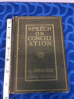 1895 Edmund Burke's Speech on Conciliation Book With America Owners Names Inside