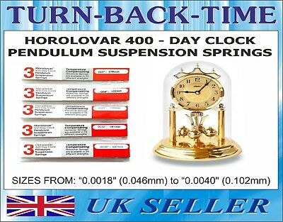 Horolovar 400 day Anniversary Clock Suspension Springs, 19 Sizes (3 pack)
