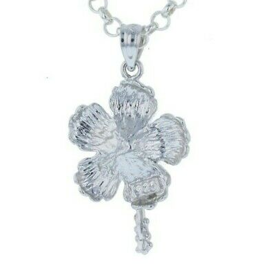 Sterling Silver 925 Large Magnolia Flower Charm Pendant Jewelry Gift