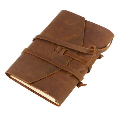 Real Leather Cover Note Book Journal Diary Hand Made Paper Notebook Notepad