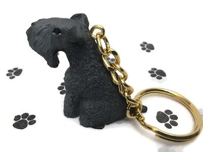 Kerry Blue Terrier Dog Tiny One Resin Keychain Key Ring New Adorable Great Gift