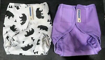 2x Motherease Rikki Nappy wraps - XSmall, Excellent condition!! Bought for £26