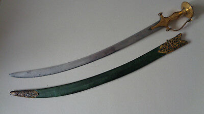 Antique Tulwar Sword, 18thC Royal Mughal Armories Mark on Blade, Exceptional