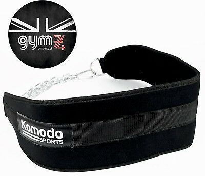Komodo Dipping Belt Weight Lifting Strap with Chain Dips Chin Pull Ups Training