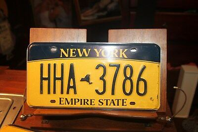 2010 New York Empire State License Plate  HHA 3786
