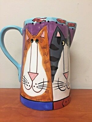 "Catzilla ""cat"" Pitcher By Candace Reiter Design  2001"