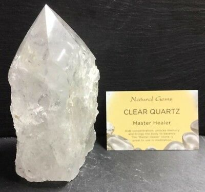 Clear Quartz Crystal Point 744g 130mm (Brazil) Master Healer Cleansing Crown 5
