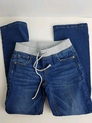 Girls JUSTICE Denim Bootcut Jeans with Knit Waist Size 8