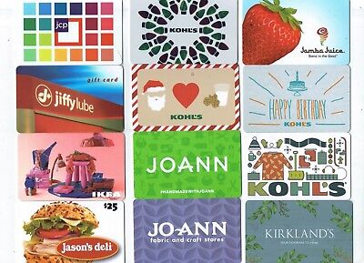 Collectible Gift Card - YOU CHOOSE 3 for $1.59 - Christmas Kohl's, Ikea, JCP