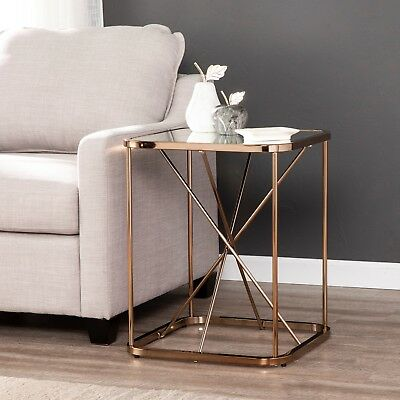 CAT58971  Mirrored Midcentury Modern Accent Table
