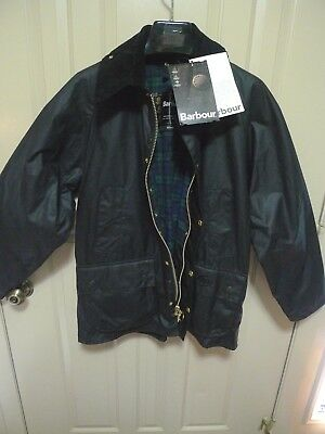 Barbour-  A104 Bedale  Waxed Cotton Jacket -Nwt- Black- Made In England- 38