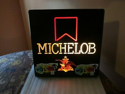 Michelob Beer SIGN lighted with decals St. Pete Florida Woody's Cafe