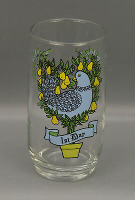 12 Days Of Christmas Glass Tumbler 10 Oz. Vintage 1St Day Replacement