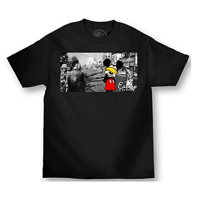 Enemy of the State Men's Execution Short Sleeve T Shirt Black Mickey Mouse Cloth