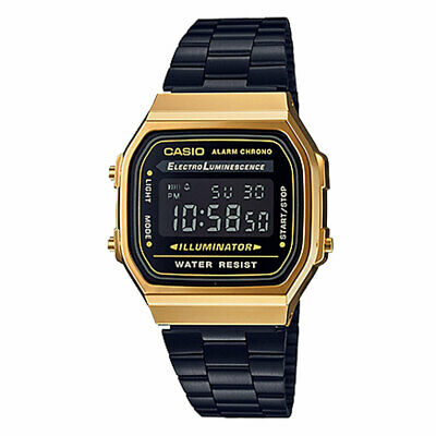 Casio Unisex Digital A168WEGB-1BVT Japan-Automatic Stainless Steel Watch Gold Ti