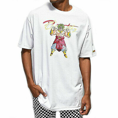 Primitive Skate x Dragon Ball Z Super Saiyan Broly Men/'s Long Sleeve T Shirt Bla