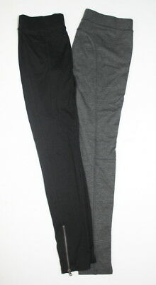 Armani Exchange Black Gray Knit Zippered Hem Leggings Lot 2 pc M