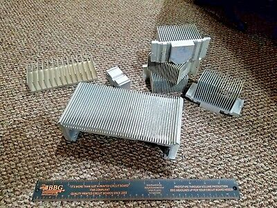 Assorted Lot of 6 Used Aluminum Heat Sinks weighing 5 lbs