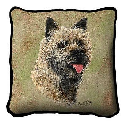"""Cairn Terrier #2 pillow (17""""x17"""")2356-P (Robert may) Pure Country NEW"""