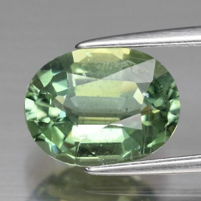3.04 ct 10.6x8 mm Oval Natural Unheated Green Apatite, Brazil