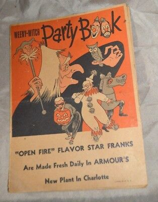 Vintage 1950s Halloween Weeny Witch Party Book Masks Party Armour Charlotte NC
