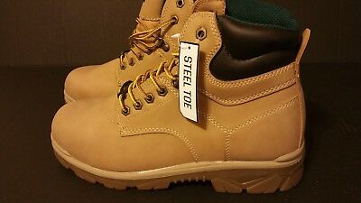 Texas Steer Men's Maximus Steel Toe  Safety Work Boots FREE EXPEDITED SHIPPING !