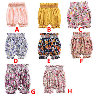 Toddler Baby Kids Girls Floral Shorts Pants Casual Anti-mosquito Short Trousers
