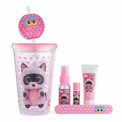 de586d0ca06 Ty Beanie Boo Rocco the Racoon Insulated Cup 7 Piece Set Easter basket  filler