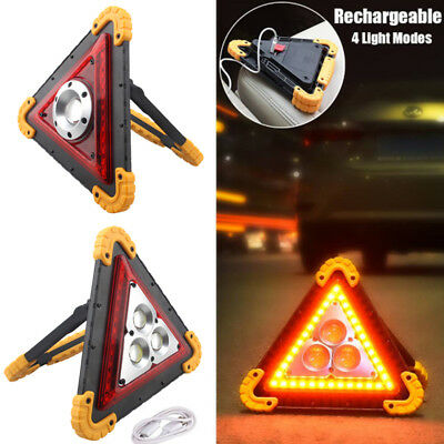 Rechargeable 4 Modes LED Work Light Emergency USB Rechargeable Warning Spotlight