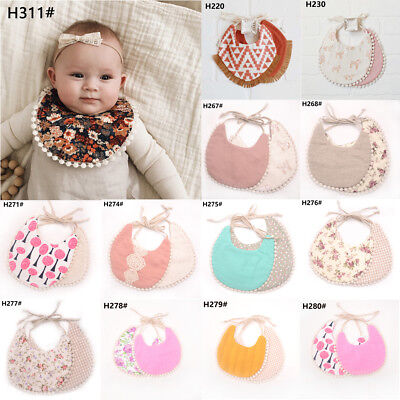 Baby Girl Boy Waterproof Towel Kids Toddler Dinner Feeding double-deck Cute Bibs