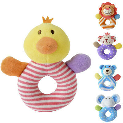 Baby Boys Girls Rattle Toys Newborn Animal Design Plush Hand Bell Toys UK