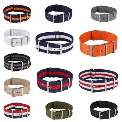 Men Infantry Military Army Fabric Buckle Nylon Wrist Watch Band Strap 18-22mm US