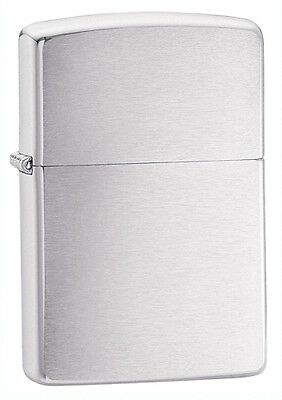 Brushed   Chrome   Zippo Free  United Kingdom.   Shipping.......................