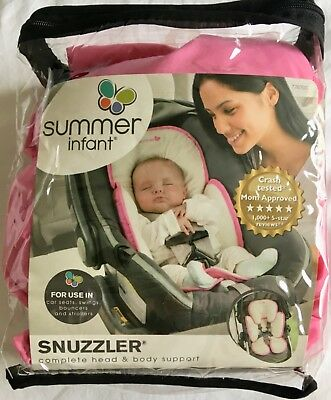 NEW Summer Infant Snuzzler Head Support for Car Seats and Strollers - Pink