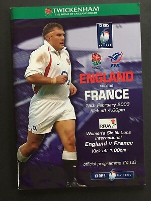 GRAND SLAM ENGLAND v FRANCE 2003 RBS SIX NATIONS RUGBY PROGRAMME , Jason Leonard