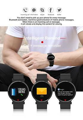 Waterproof Smart Watch Heart Rate Blood Pressure Monitor Sports for iOS/Android