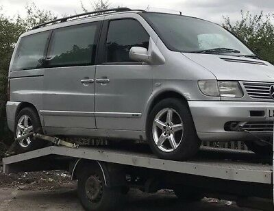 Mercedes V Class W638 Vito Ambient V220 Cdi Automatic 2002 Silver Nut Breaking