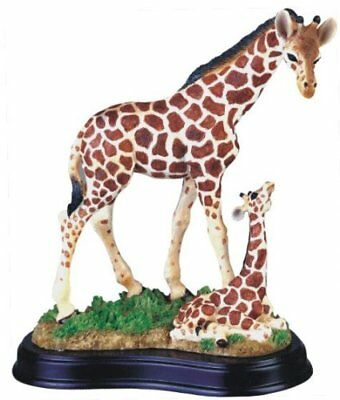 Giraffe w/ Baby Zoo Animal Wildlife Figurine Sculpture Statue Model