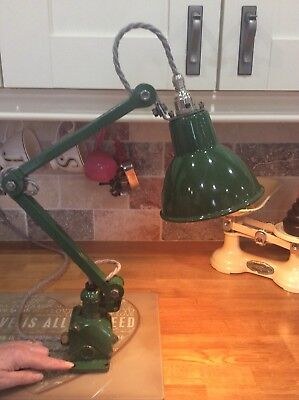 Industrial chic vintage 2 arm anglepoise lamp in Excellent Original Condition