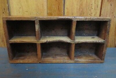 Antique Primitive Small Wooden Cubby Hole, Country, Farm House
